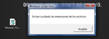 Oculta o muestra las extensiones de archivos en Windows con solo un clic