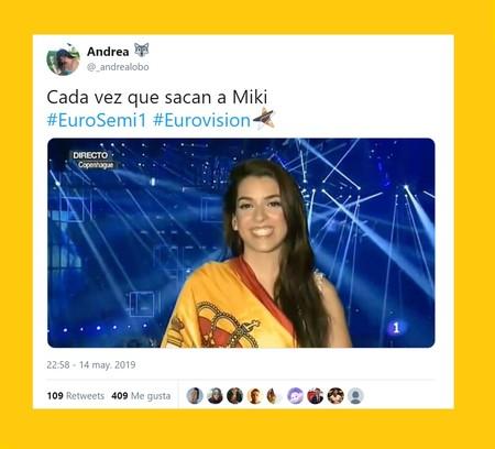 Miki se coloca 13º en las casas de apuestas y los eurofans ya sacan las banderas de España en Twitter
