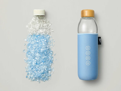 Una botella elaborada con residuos plásticos para combatir la contaminación de los océanos