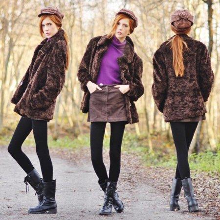 Pelo abrigo Moda en la calle