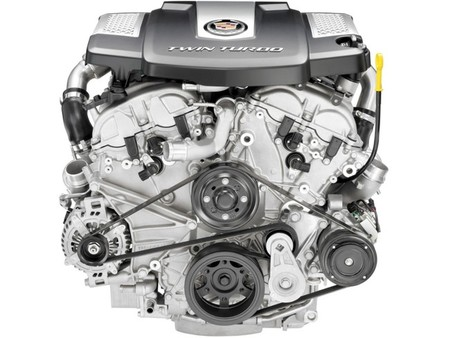 Motor Twin Turbo V8 3.6L Cadillac