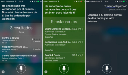 Mapas con Siri en iOS 7