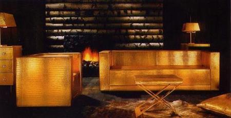 Gold, un glamouroso mobiliario dorado de Phillipp Plein