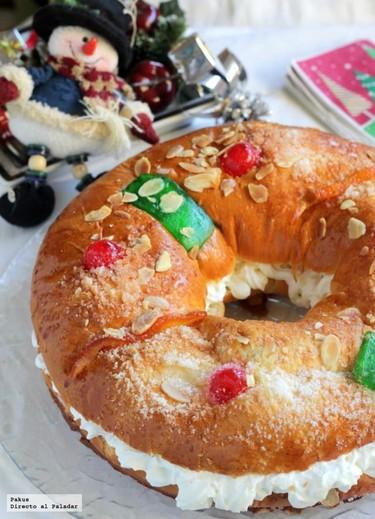 Roscón de Reyes sin gluten. Receta