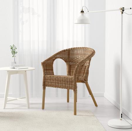 Silla de ratán y bambú Ikea