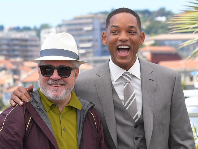 Pedro Almodovar con Will Smith