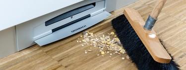 Nuevas soluciones de limpieza: un cajón aspirador integrado en el zócalo de la cocina para facilitar su limpieza
