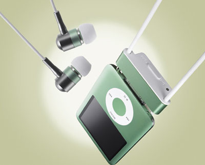 Radius radStrap con cancelación de ruido para iPod nano