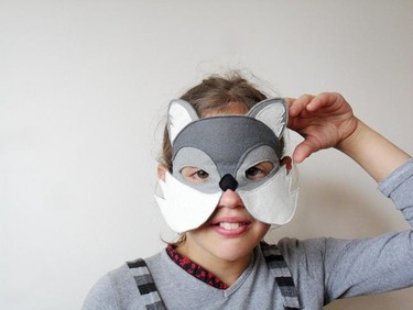 Preciosas máscaras de tela para Carnaval