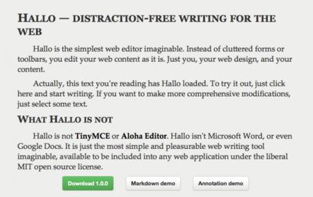Hallo.js, otro editor (con buena pinta) de texto para la web
