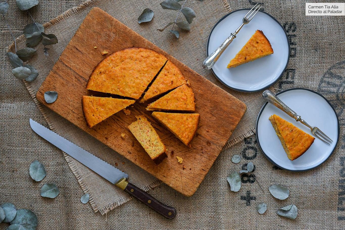 Bizcocho De Zanahoria De Eva Arguiñano Receta De Cocina Fácil Sencilla Y Deliciosa