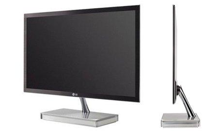 LG E90, monitor ultrafino con conexiones en la base