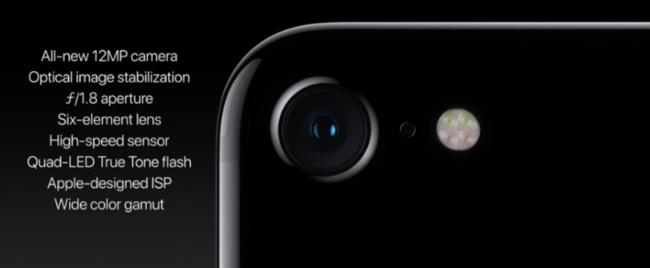 specs de la cámara del nuevo iPhone 7