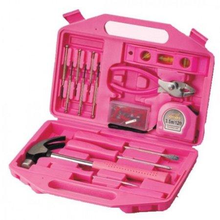 Caja de herramientas rosa