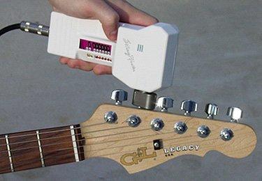 Afinador electrónico para guitarras