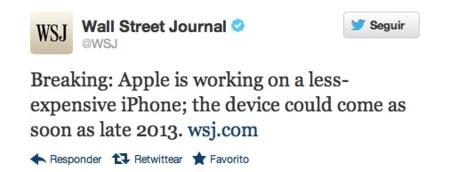 Apple estaría trabajando en un iPhone más económico según The Wall Street Journal