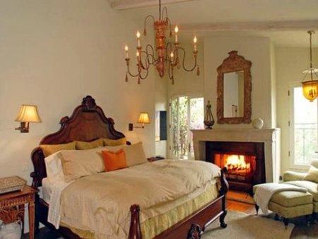 Dormitorio de Halle Berry.