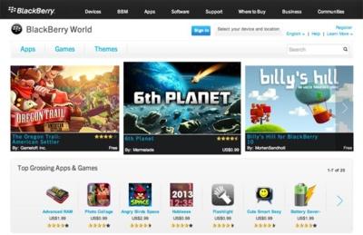 BlackBerry World, la tienda de Blackberry 10, detalla sus ofertas de audio y vídeo para atraer a los usuarios