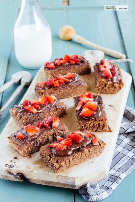 Brownies con fresa