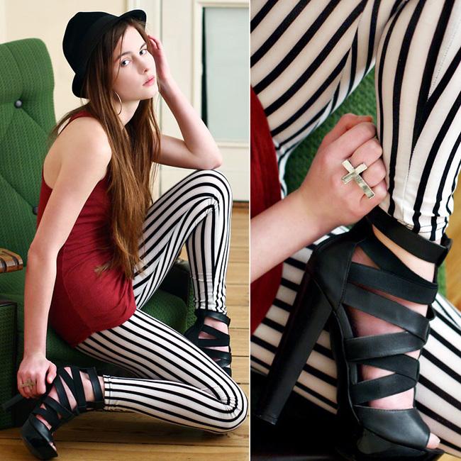 Aria Rayas moda pantalón