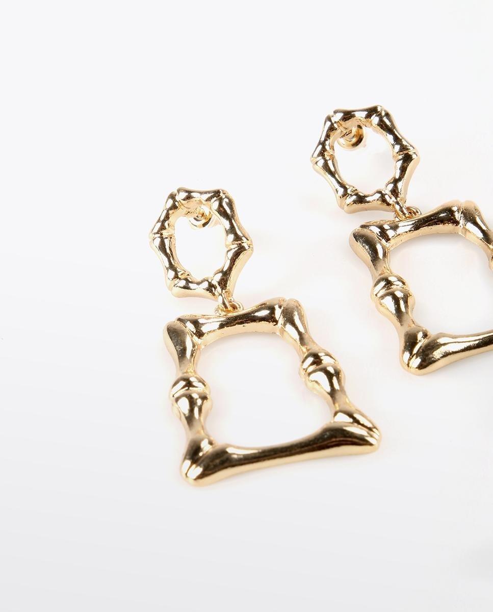 Pendientes Lola Casademunt en color oro con forma de rectángulo irregular