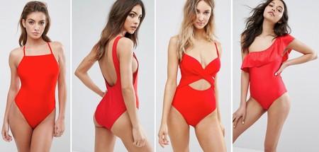 Moda Bano Rojo 2017 2