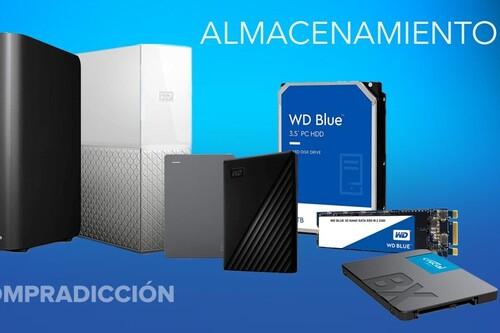 El TB o el GB te salen más baratos con estas ofertas en discos duros Western Digital, Seagate y Crucial en Amazon