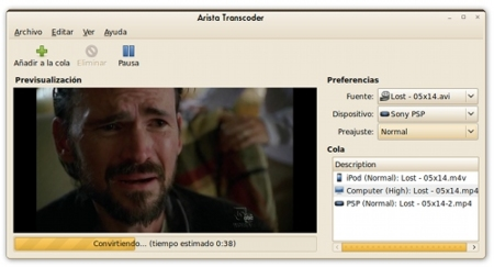Arista Transcoder: conversor de videos integrado en GNOME