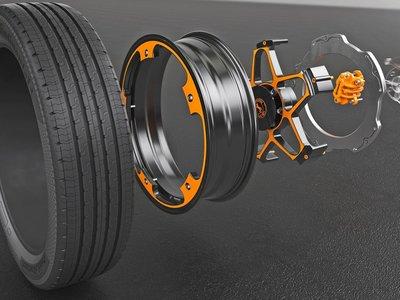 Continental presentó un nuevo concepto de rueda para autos eléctricos