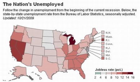 Desempleo en EE.UU. supera el simbólico 10%