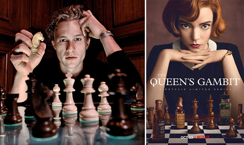 Heath Ledger iba a dirigir 'Gambito de dama': el actor quería debutar tras las cámaras con una película protagonizada por Ellen Page