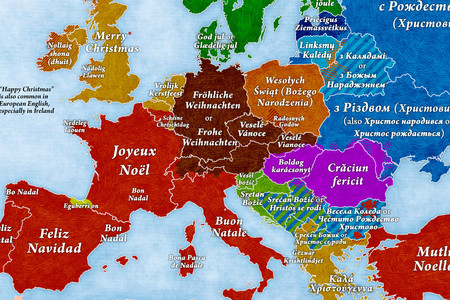 """¿Cómo se dice """"Feliz Navidad"""" en todos los idiomas de Europa? Este mapa te resuelve la duda"""