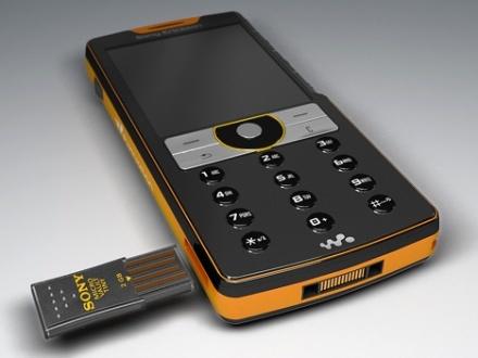 Concepto de teléfono Sony Ericsson con puerto USB