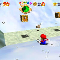 Super Mario 64: cómo conseguir la estrella Whirl from the Freezing Pond de Snowman's Land