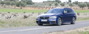Probamos el BMW M550d xDrive Touring: 400 CV y cuatro turbos para un coche diésel familiar que emociona y sorprende por consumo