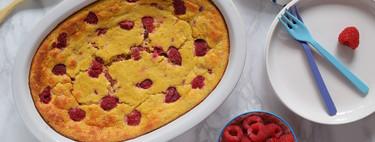 Pastel fitness de frambuesas y avena sin azúcar: receta saludable