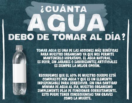 Infografía: esta es la cantidad de agua que se debe de tomar al día