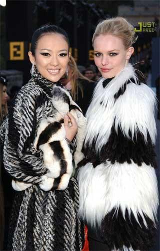 Zhang Ziyi y Kate Bosworth la Muralla China
