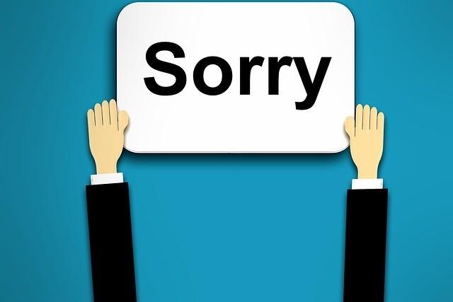 El arte de pedir disculpas en el trabajo