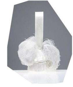 El bolso de noche Ostrich de plumas blancas de Balenciaga, 2008