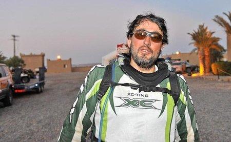 Panáfrica 2010: Pau Vidal en medio del desierto.