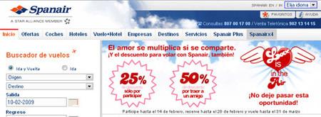 Spanair ofrece 50% de descuento en vuelos