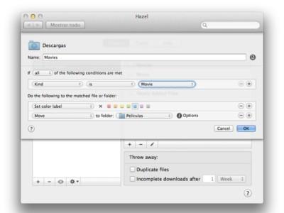Hazel, nueva actualización con mejoras para automatizar acciones en tu Mac