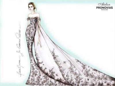 Así de romántico es el vestido de novia de Gabriela Palatchi, la hija del dueño de Pronovias