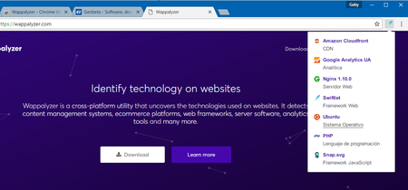 Esta extensión para Chrome y Firefox identifica todas las tecnologías usadas en los sitios web que visitas