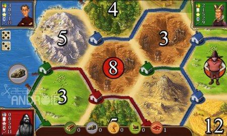 Catan: Vista del tablero de juego