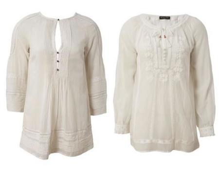 blusas blancas massimo dutti