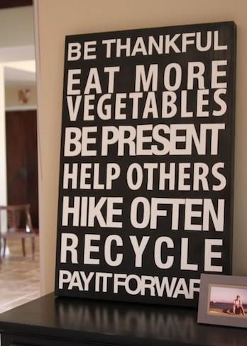 Una buena idea: decora la pared con tus propósitos de año nuevo