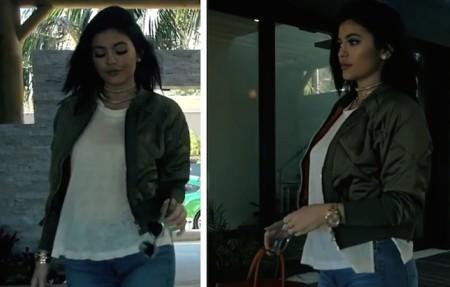 Kylie Jenner Zara Bomber Jacket