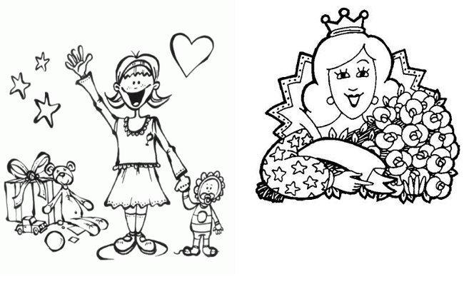 Dibujos Del Día De La Madre Para Colorear